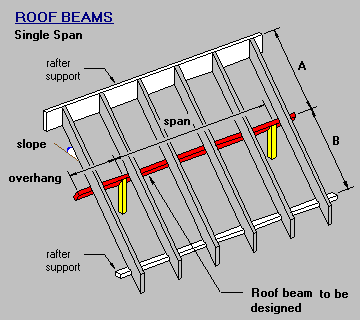 Timber & steel framing manual - Single Span Roof Beam